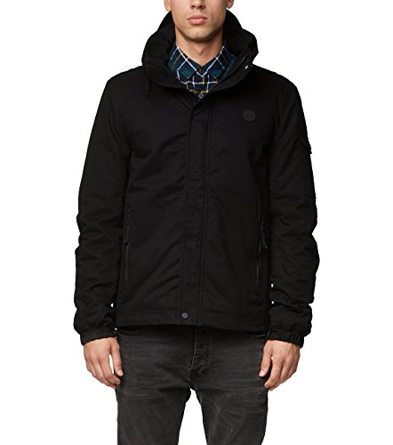 Bench Herren Easy Cotton Mix Jacke, Schwarz (Black Beauty Bk11179), Large