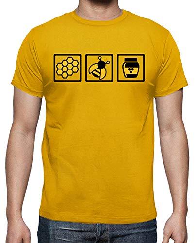 latostadora - Camiseta Miel de Abeja para Hombre Amarillo
