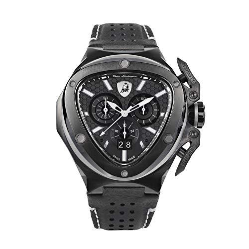 Tonino Lamborghini Spyder X Reloj cronógrafo negro PVD T9XD