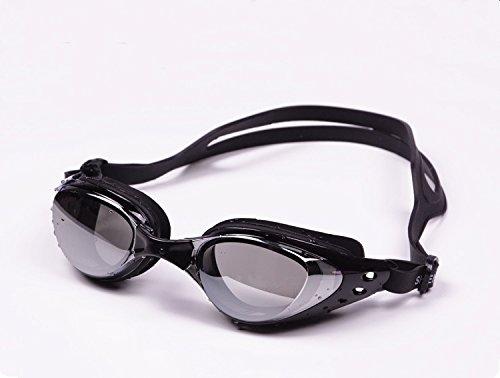 MISOL Miope Miopia Swim Goggles, Occhialini da Nuoto Professional Anti Fog No Leaking Protezione UV Wide View Swim Goggles for Women Men Adult Youth Kids