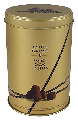 Mathez - 500 g - Truffes Fantaisie - Kakaotrüffel mit Meersalz aus Guérande - goldene runde Dose