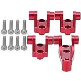 Piezas de Repuesto del Asiento del Soporte de la Barra de la quilla Delantera Trasera RC compatibles con los Coches Modelo TRAXXAS TRX4 TRX6 1/10(Rojo)