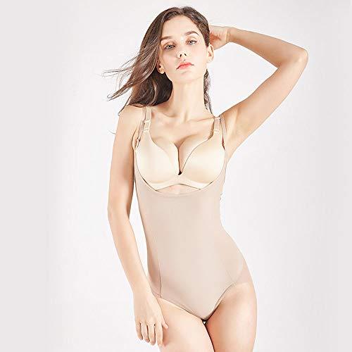 ONGLOLH Bodys Formwäsche bequemer Breathable Bauch Kleid mit hohen Taille Bauch Hosen Postpartale dünnes Korsett Taille Hosen-Körper-Form-Bodysuit,Beige-XL