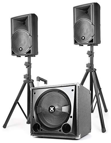 Dieses Set enthält einen 12-Zoll/30,5-cm-Subwoofer und zwei Lautsprecher von 8Zoll/20,3cm.