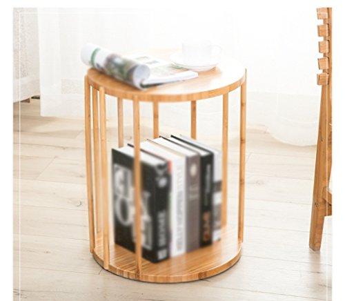 Viqie Runde Kante Regal Massivholzerkerfenster Couchtisch Tisch Einfache Moderne Sofa Beistelltisch Ecke EIN Paar Regal