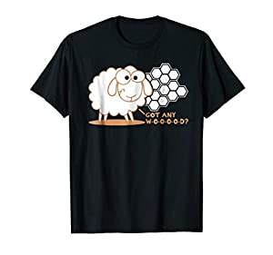 "Table top gaming t-shirt with cute sheep for board game geeks who have ever said the phrase, ""I've got wood for your sheep."" It's the perfect geeky t-shirt for family game night. This Got Any Wood? - Board Game Geek T-Shirt was designed to be fitted...."