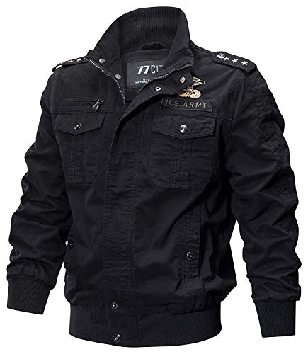 HaiDean multi-pocket katoenen jas windjack lichte vrachtmantel moderne casual outdoor leger gewassen jassen met schouderbanden