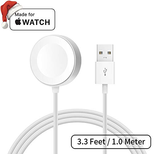 Mpio Apple MFi Apple Watch iWatch caricabatterie, 3.3ft/1.0meter magnetico cavo di ricarica per iWatch 38mm 42mm, Apple Watch Series 1/2/3