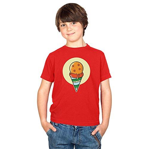 NERDO jongens Dragon Ice Cream T-shirt, rood, XL