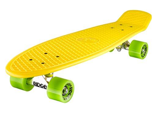 Ridge Skateboard Big Brother Nickel 69 cm Mini Cruiser, gelb/grün