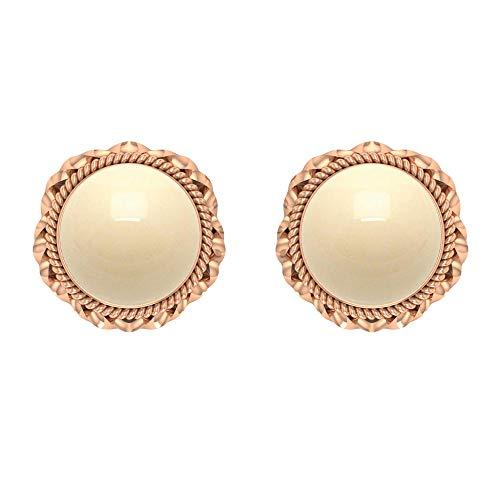 Pendientes de perlas cultivadas japonesas 7,8 CT, pendientes de flor, pendientes de oro vintagetornillo hacia atrás