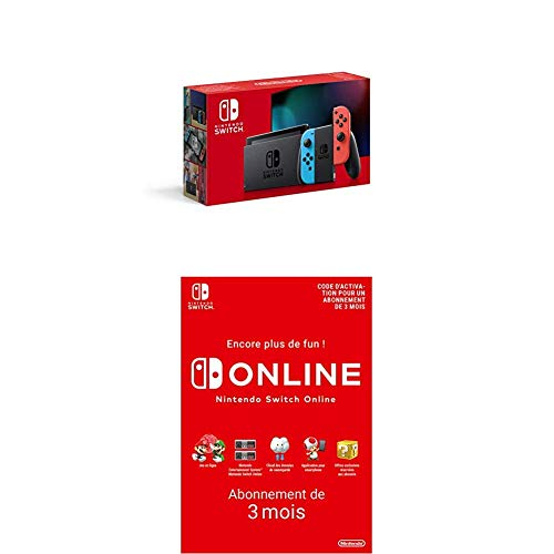 Pack Switch Néon + Nintendo Switch Online 3 mois