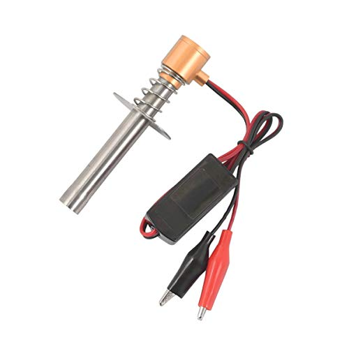 Wolfberrymetal Velas eléctricas Encendedor de Encendido para bujía incandescente para 1: 8 1:10 Escala Buggy Truck RC Modelo Coche Barco Avión Helicóptero Hsp 94122 94188 (Oro)