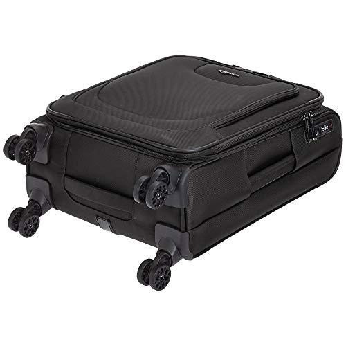 AmazonBasics Expandable Softside Carry-On Spinner Luggage Suitcase With TSA Lock And Wheels - 23 Inch, Black