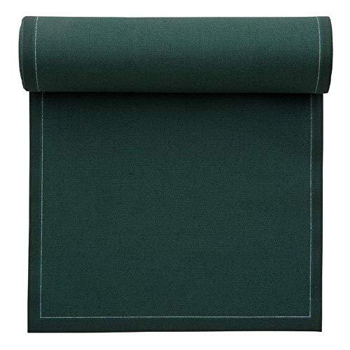 Serviette de table en coton 32x32cm - Rouleau de 12 serviettes - Vert Anglais