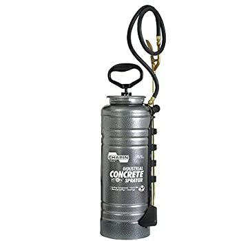 Chapin International 1979 Industrial Concrete Open Head Sprayer with Filter 3.5-Gallon Silver
