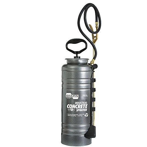 Chapin International 1979 Industrial Concrete Open Head Sprayer with Filter, 3.5-Gallon, Silver