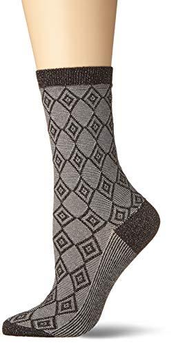 BURLINGTON Damen Socken Ladywell Diamond - Baumwollmischung, 1 Paar, Schwarz (Black 3002), Größe: 36-41