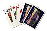 Crater Lake National Park, Oregon, Early Morning At Crater Lake, Contour 90094 (Playing Card Deck, 52 Card Poker Size with Jokers)