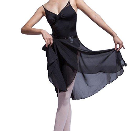 Hoerev Erwachsene Schiere Wrap Skirt Ballett Rock Ballett Tanz Dancewear,Schwarz,L
