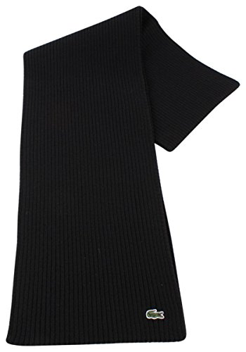 Lacoste Black Plain Wool Schal