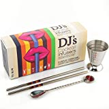 Vodka Cocktail Mixers - Make 12 Classic Cocktails - Botanical Blends To Transform Your Vodka - Includes Stainless Steel Bar Tools Including Measuring Jigger - Stirring Spoon and Drinking Straws