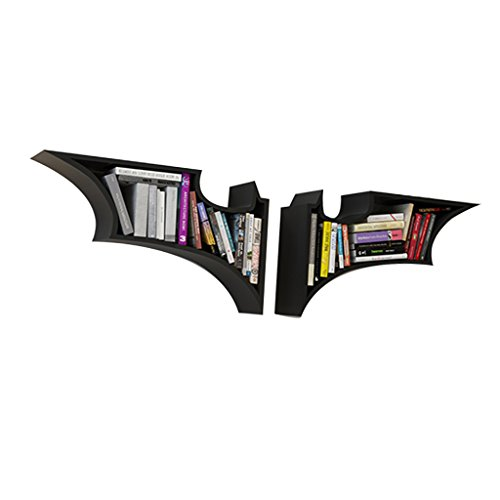 Chang Xiang Ya Shop Librerías Estantería de Pared Batman Estilo Estante de la Sala Colgar en la Pared Estante Creativo decoración Enrejado celosía partición habitación de los niños (Color : Black)