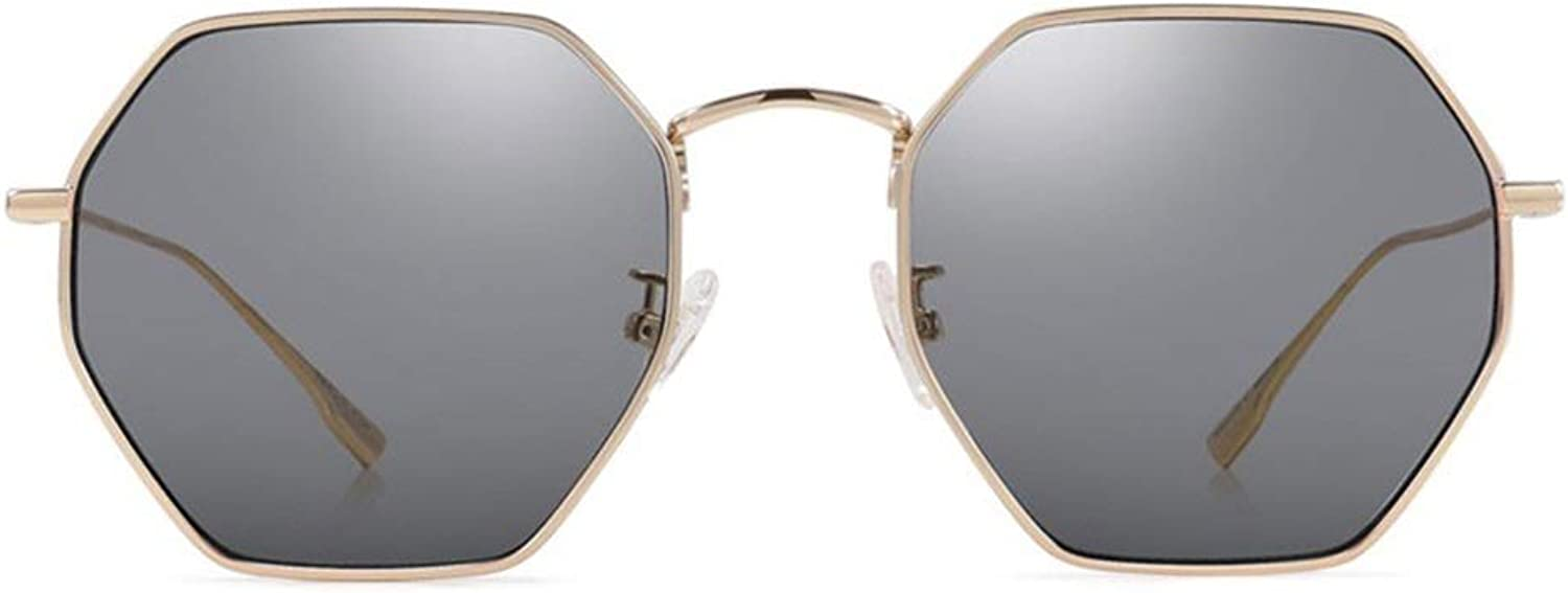 LFFTYJ Women's Sunglasses, Metal MultiFrame Nylon Sunglasses Trend Polarized Sunglasses, a Variety of colors Available Give him (her) a Good Summer Gift (color   C)