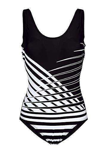 Maritim Damen Badeanzug schwarz/weiß