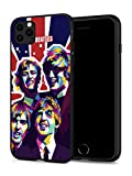 T-GO iPhone 11 Pro Case Rock Band Hard Plastic & Silicone Rubber Bumper Protective Cover for iPhone 11 Pro 5.8' (Beatles-Flag)