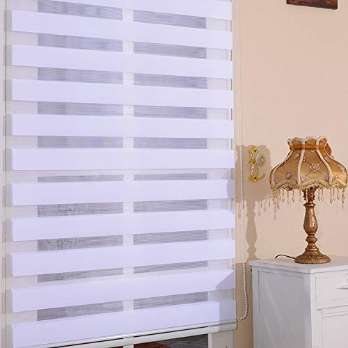 YLCCC Thermal Doppel Rolläden, Tag und Nacht Rollo Stoff Durchlässiger Blackout Vision-Gardinen nach Maß Beschläge inklusive für Fenster, Tür,