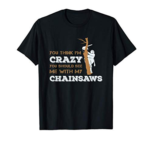 Chainsaw and Tree for a Woodcutter T-Shirt