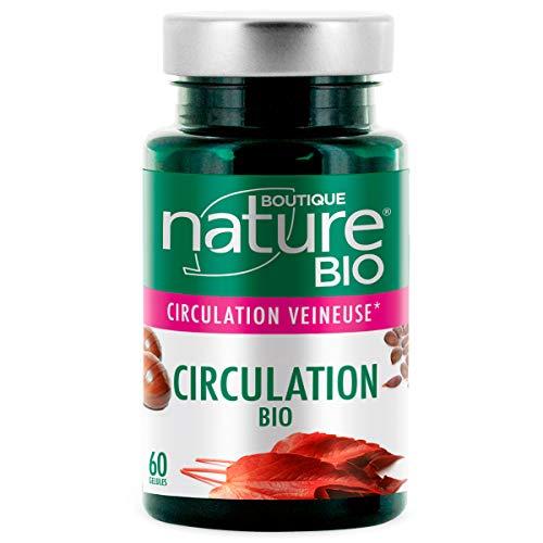 Boutique Nature - Complément Alimentaire - Circulation BIO -  60 Gélules Végétales - Maintenir une bonne circulation sanguine