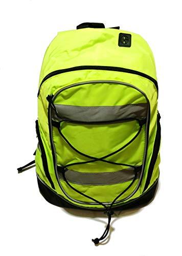 Homezone/Asc - Mochila Para Ciclismo o Escolar con Láminas Reflectantes (20 L), Color Amarillo