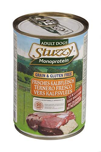 Stuzzy Dog Monoprotein Kalb, Hundefutter nass, 6 Dosen x 400 g, 2.4 kg