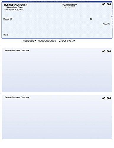 Blue Safety Computer Checks - 50 Printed Laser Computer Voucher Checks - Compatible for Quickbooks