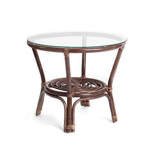 Rattan Gartenmöbel - Balkon Möbel - Lounge Möbel Terrasse - Ragnarök Gartenmöbel - Tisch - Balkonmöbel (Dunkel)