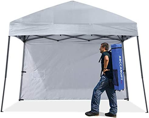 ABCCNAOPY Outdoor Pop Up Canopy Beach Camping Canopy with 1 Sun Wall Bonus Backpack Bag Stakes product image