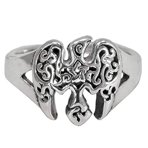 Sterling Silver Celtic Raven Pentacle Toe Ring