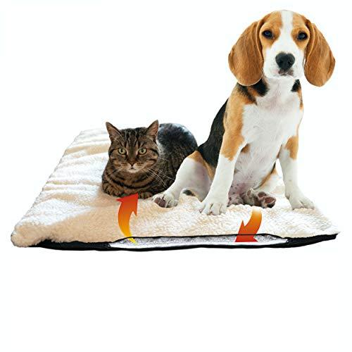 riijk Selbstheizende Decke für Katzen & Hunde, Größe: 90 x 64cm, Heizdecke waschbar, Wärmematte für Katzen raschelfrei, Katzendecke