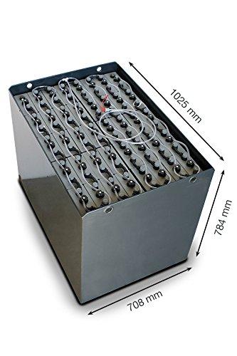 Q-Batteries 80V Gabelstaplerbatterie 4 PzS 620 DIN A (1025 * 708 * 784) RAL 7021 Trog 57019023