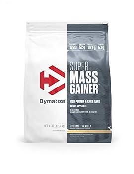 Dymatize Super Mass Gainer Protein Powder 1280 Calories & 52g Protein 10.7g BCAAs Mixes Easily Tastes Delicious Gourmet Vanilla 12 lbs