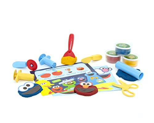 Green Toys SSDTM-1323 Sesame Street Elmo & Friends Dough Activity Set, Multi