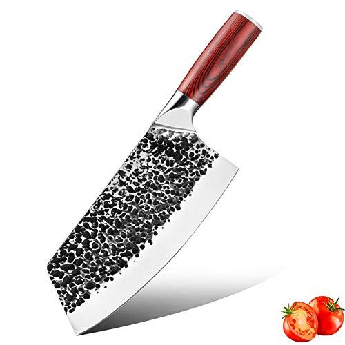 Cuchillo de chef de High Carbon Acero inoxidable Cuchillo forjado Cuchillo de matadero Cuchillo de cocina Ultra Sharp Hogar Cleaver juego de cuchillos de cuchillo