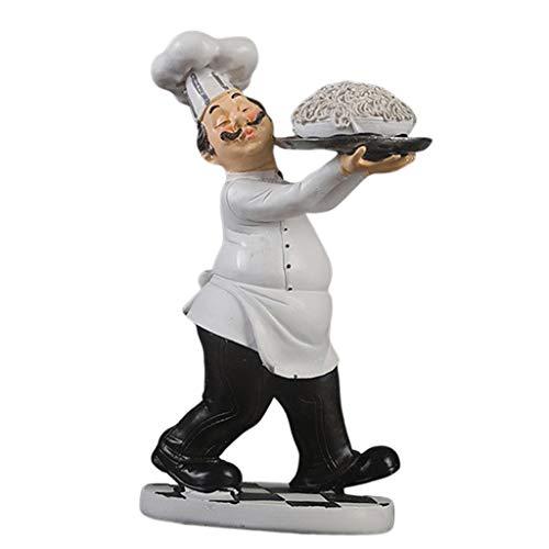 perfeclan Chef Figur Küchenchef Chefkoch Dekofigur Küche Bar Accessoires Tischdeko - Nudeln