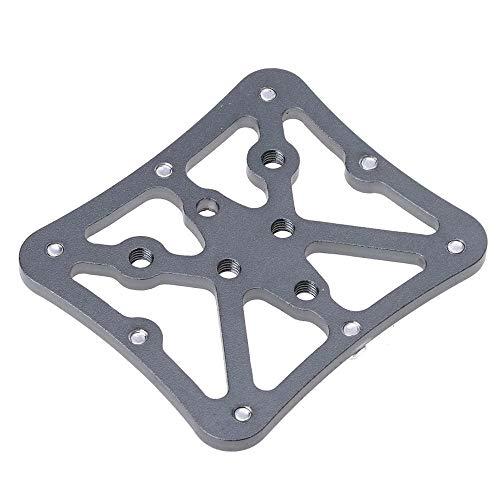 NO LOGO MUZIWENJU Bicicletas Plataforma de Adaptador de Pedales de Aluminio de aleación de Bicicleta Apariencia Clipless (Color : Titanium)
