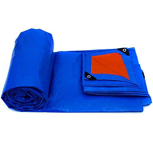 LFF-lona de poliéster de Alta Resistencia a Prueba de Agua Impermeable al Aire Libre Azul-Naranja protección Solar protección de la Lona 175g / ㎡ (Tamaño : 2X1.5m)