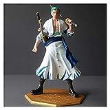 NOCEVCX Anime Figure Toy, One Piece Anime Figura Dos años más Tarde Ropa Blanca Roronoa Zoro Statuer...