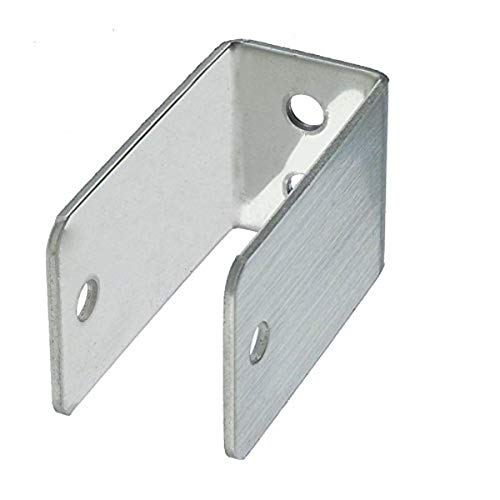 Harris Hardware 11989 Extra Long U Bracket Stamped Stainless Steel 3/4-Inch Panel Thickness 2-1/2-Inch Bracket Stamped Stainless Steel Height 7/8-Inch Base Length 1-1/2-Inch Base Width,