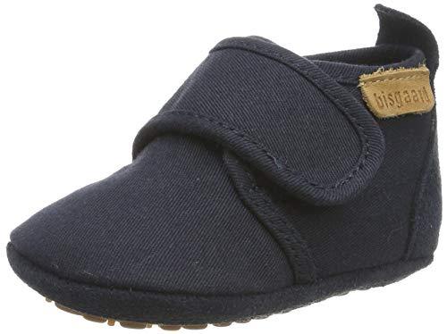 Bisgaard Baby Jungen Home Shoe-Cotton Hausschuhe, Blau (Navy 21), 22 EU